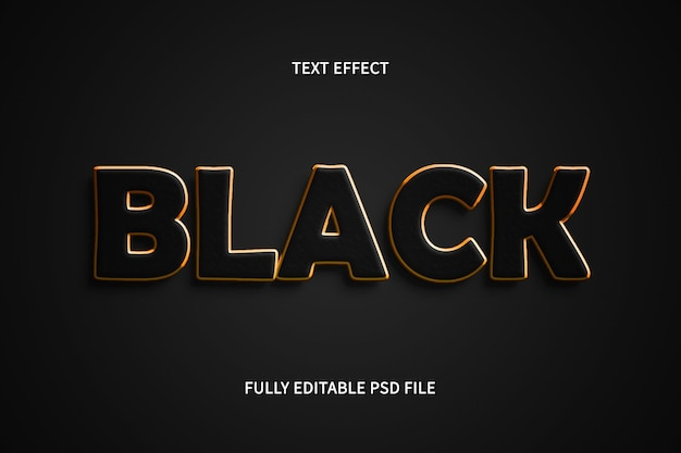 Efeito de texto preto