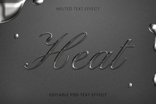 Efeito de texto psd editável derretido em estilo de caligrafia