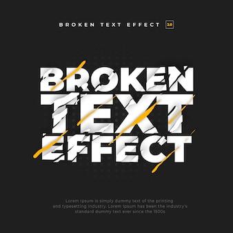 Efeito de texto quebrado dividido rasgado