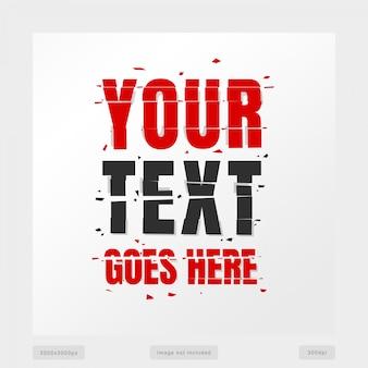 Efeito de texto quebrado