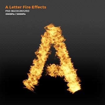 Efeito de texto realista de chamas de fogo