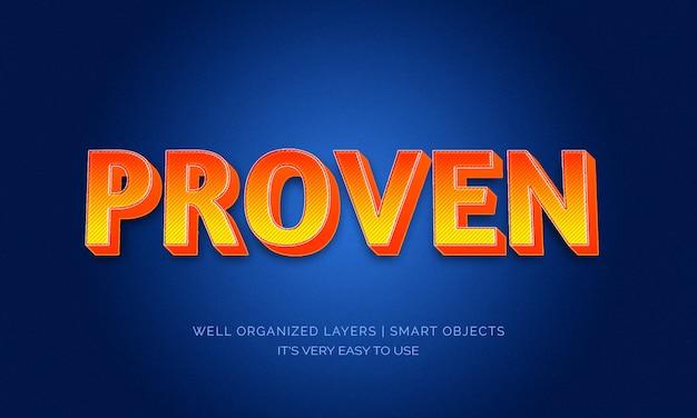Efeito de texto retrô estilo 3d laranja