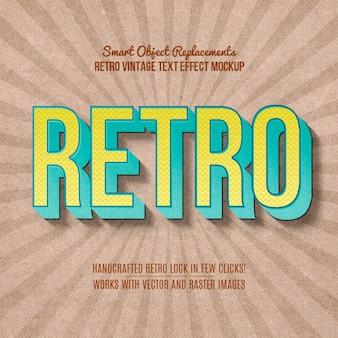 Efeito de texto retro vintage