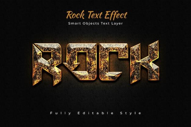 Efeito de texto rock