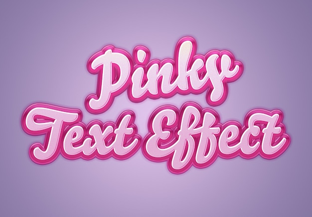 Efeito de texto rosa retrô mockup