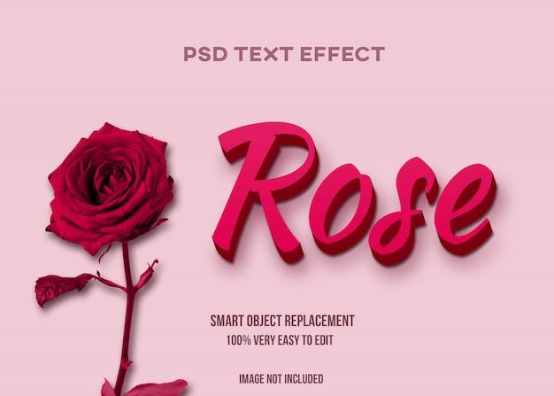 Efeito de texto rosa
