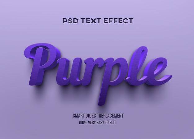 Efeito de texto roxo 3d