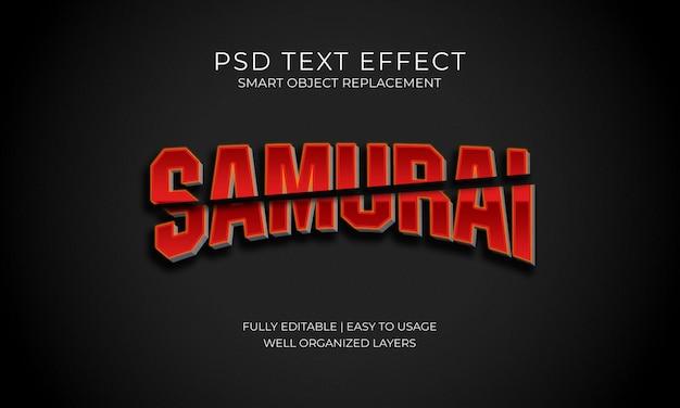 Efeito de texto samurai
