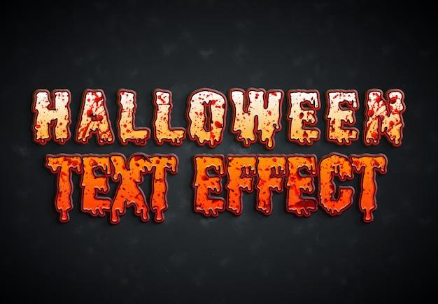 Efeito de texto sangrento de halloween