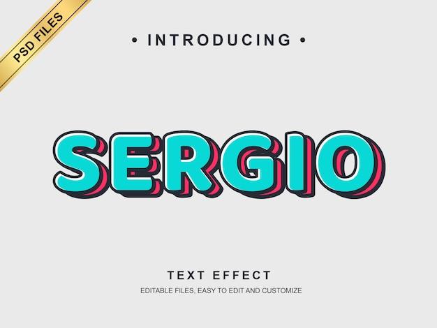 Efeito de texto sergio
