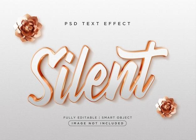Efeito de texto silencioso estilo 3d