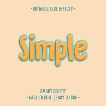 Efeito de texto simples psd premium