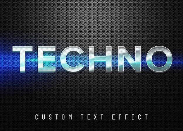 Efeito de texto techno 3d