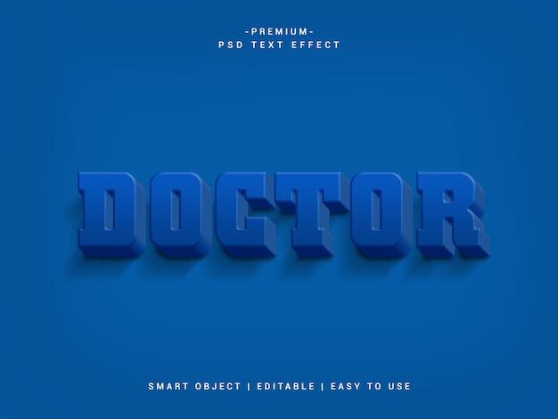 Efeito de texto tipográfico doctor premium