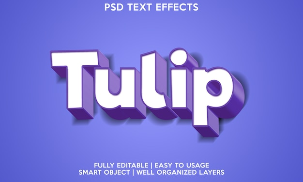 Efeito de texto tulipa
