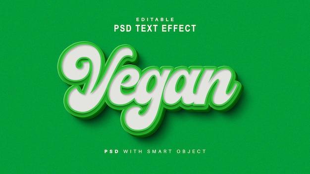 Efeito de texto vegano