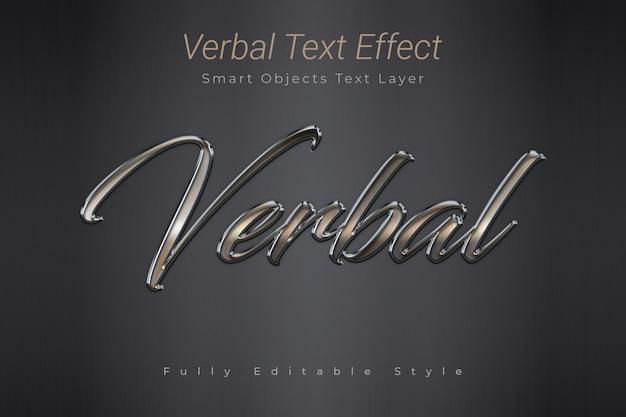 Efeito de texto verbal