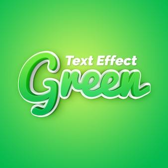 Efeito de texto verde fantasia 3d