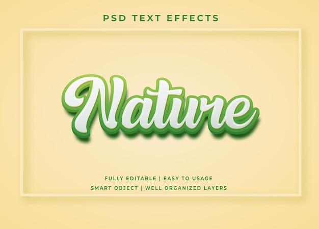 Efeito de texto verde natural editável