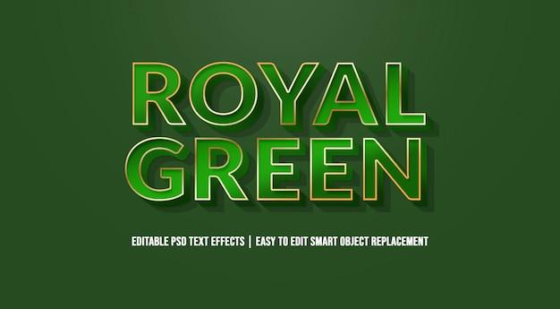 Efeito de texto verde real premium psd