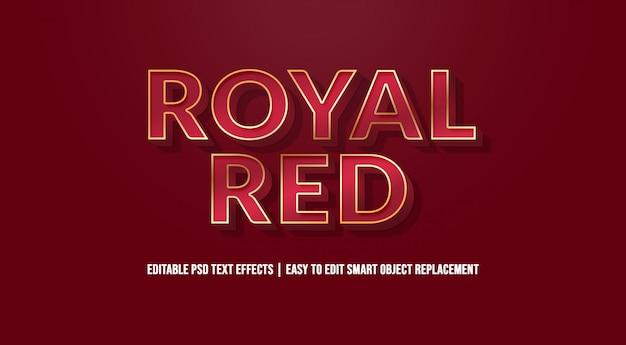 Efeito de texto vermelho real premium psd