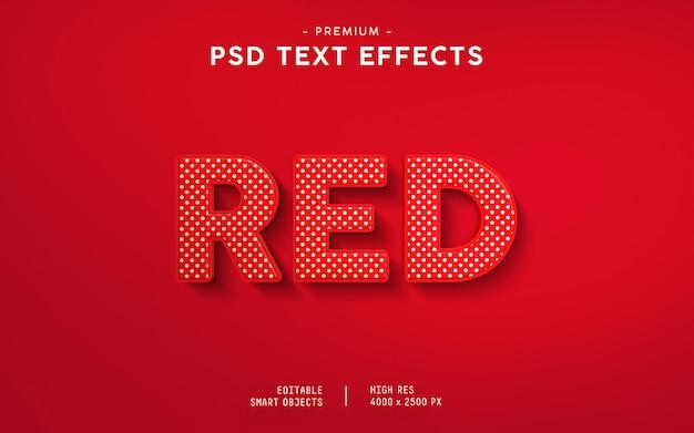 Efeito de texto vermelho