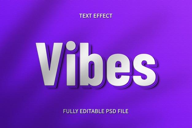 Efeito de texto vibrações