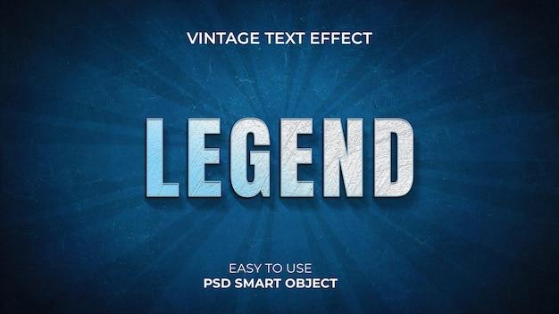 Efeito de texto vintage 3d photoshop com estilo