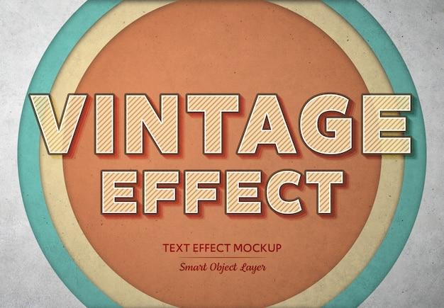Efeito de texto vintage mockup