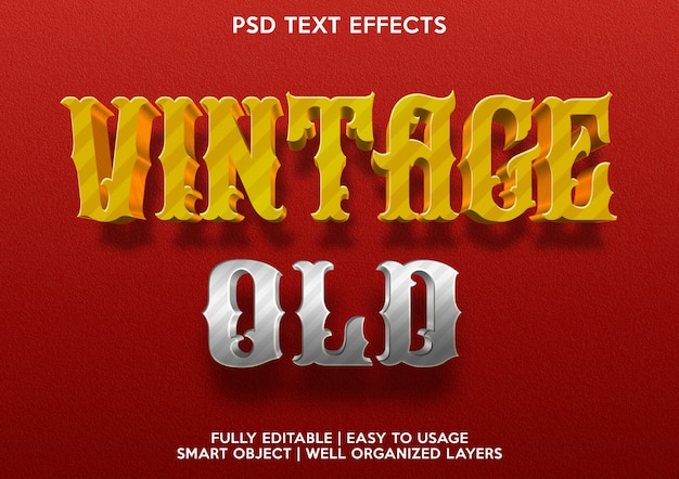 Efeito de texto vintage