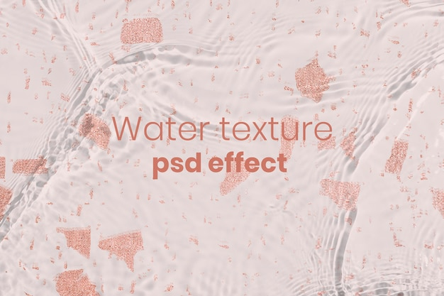 Efeito de textura de água psd, complemento de fácil sobreposição