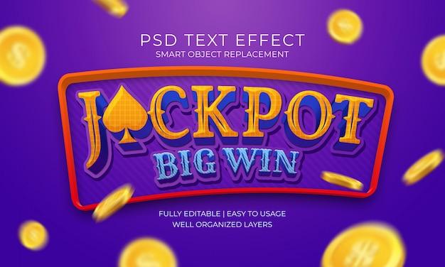 Efeito do texto da ganha grande do jackpot