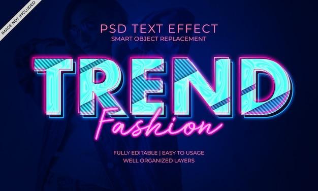 Efeito do texto da moda da tendência