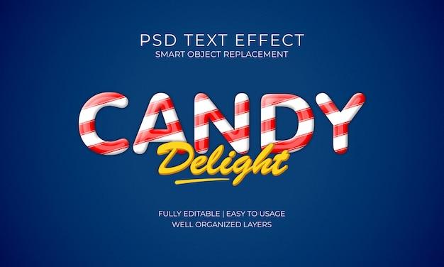 Efeito do texto de doces