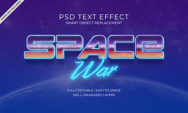 Efeito do texto de guerra espacial