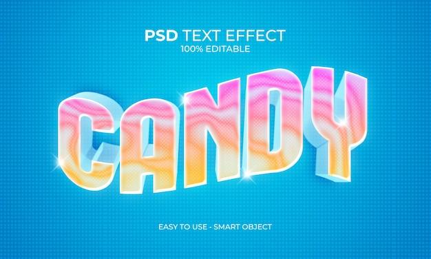 Efeito do texto do mármore doce