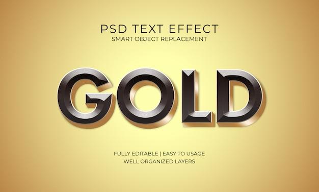 Efeito do texto do ouro