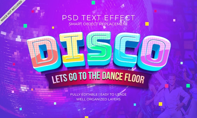 Efeito do texto do piso da dança do disco