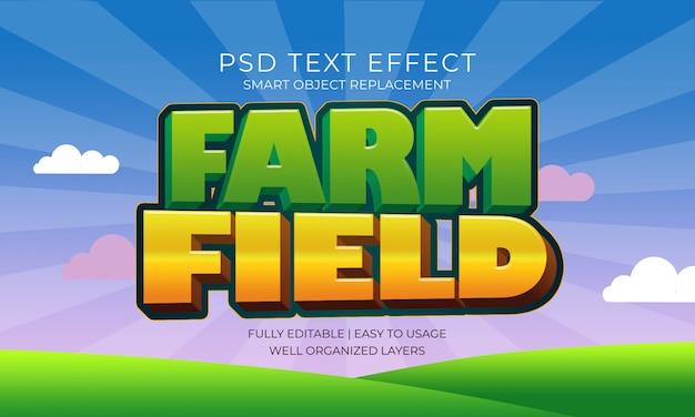 Efeito do texto no campo agrícola
