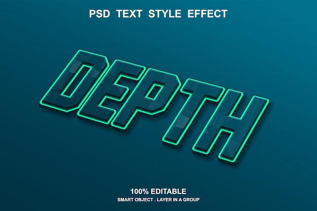 Efeito estilo profundidade de texto