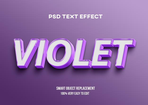 Efeito forte de texto violeta em negrito