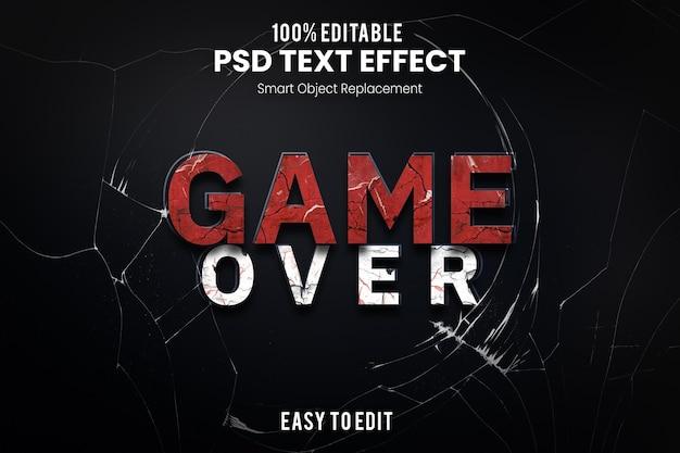 Efeito game overtext
