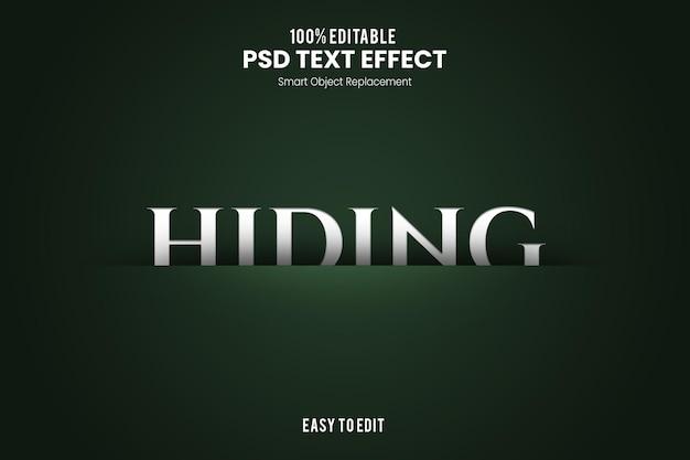 Efeito hidingtext