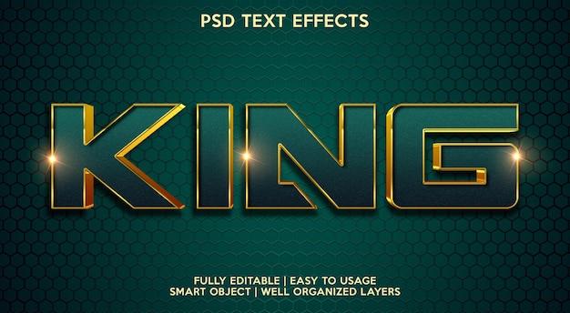 Efeito king text