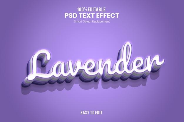 Efeito lavendertext