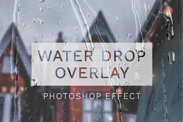 Efeito psd de sobreposição de gotas de água fácil de usar
