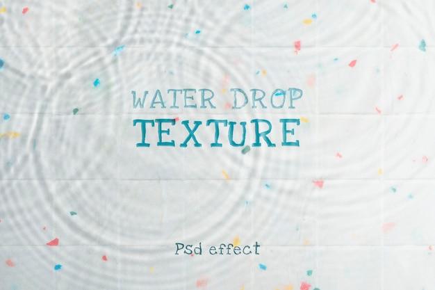 Efeito psd de textura de gota d'água, complemento de photoshop