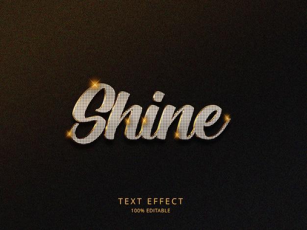 Efeito shine-3d-text