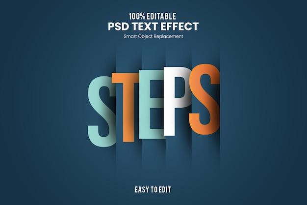 Efeito stepstext