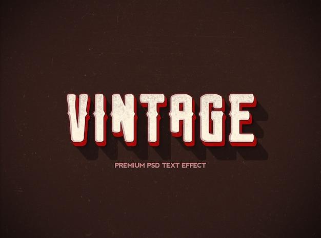 Efeito tex vintage e estilo clássico